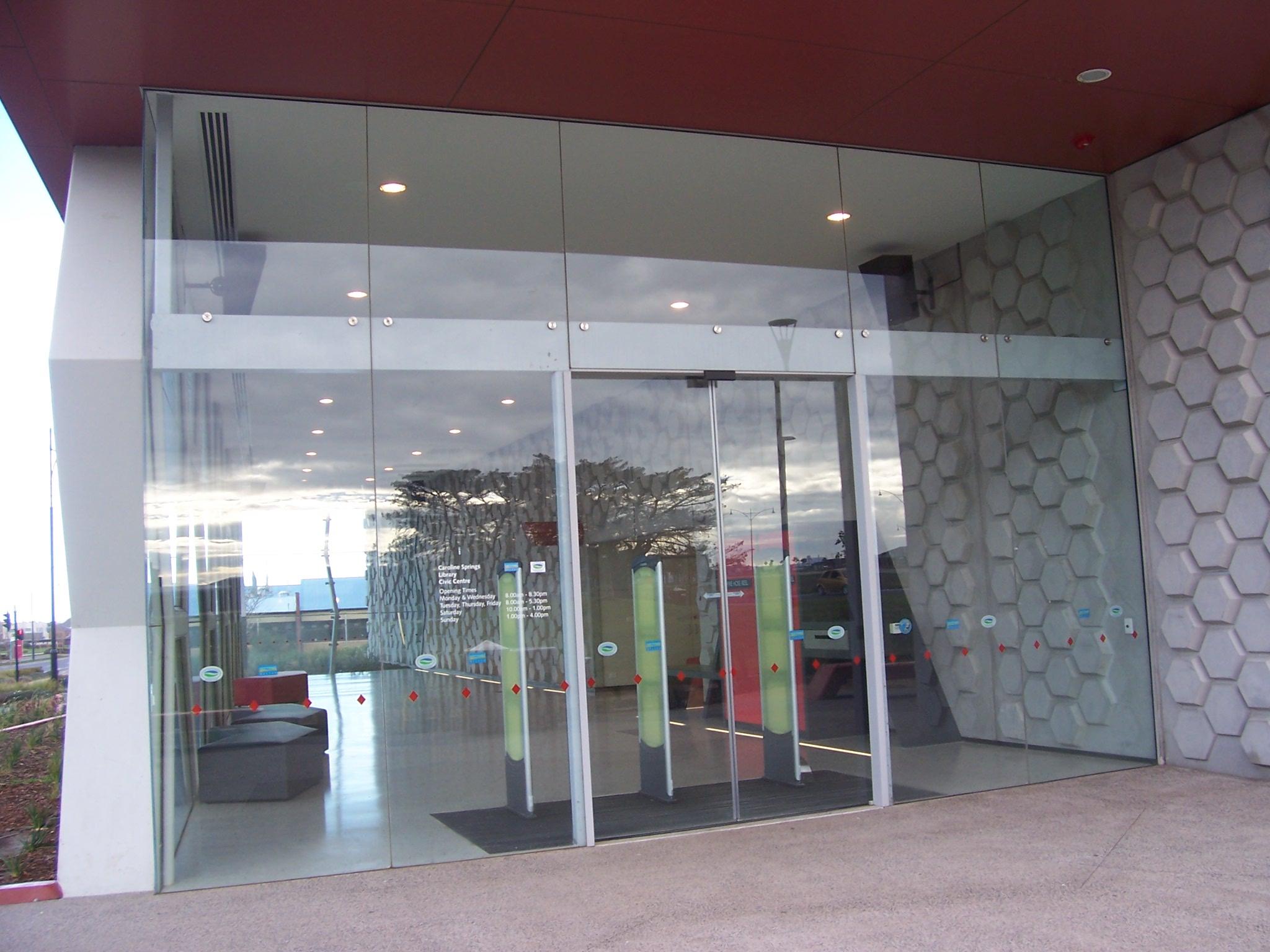 Frameless glass fin facade frameless glass sliding doors amp pool - Image Number 98 Of Glass Door Facade